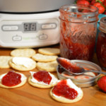 Ball FreshTECH Jam & Jelly Maker Strawberry Jam recipe, as seen on Taste of Southern.
