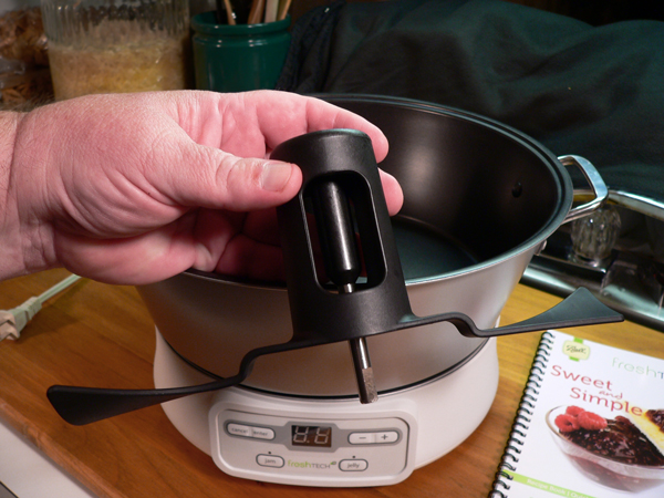 FreshTECH Jam & Jelly Maker, stirring paddle.