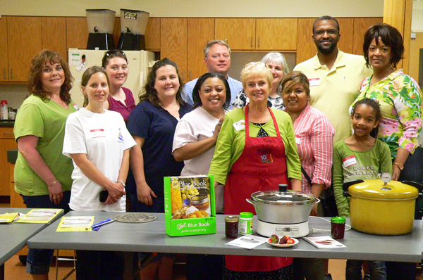 FreshTECh Jam & Jelly Maker, canning class participants.