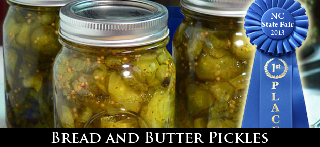Award Winning Bread and Butter Pickles recipe, from Taste of Southern.