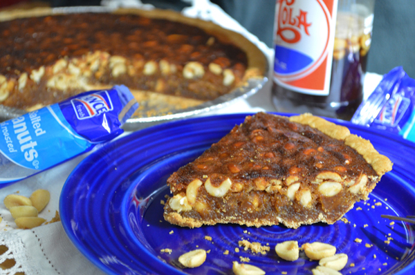 Pepsi and Peanuts Pie recipe, as seen on Taste of Southern.