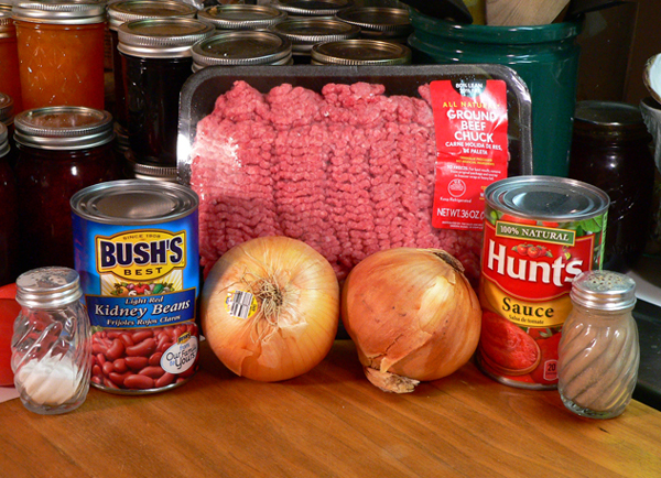 Howard Family Chili, ingredients.