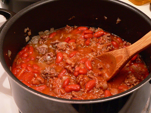 Howard Family Chili, reduce heat and let simmer.