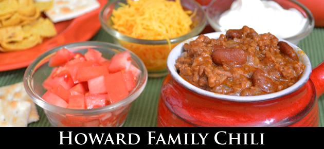 Howard Family Chili, slider.