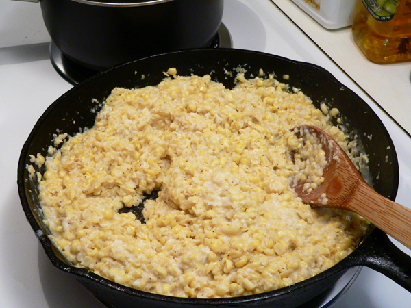 Creamed Corn, cook a few minutes more.