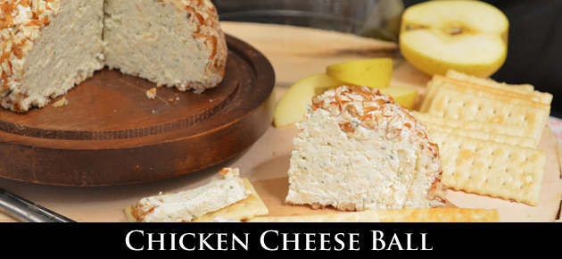 Mama Ruth's, Chicken Cheese Ball recipe, as seen on Taste of Southern.