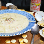 Clam Chowder with fresh clams.