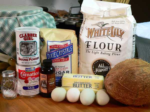 Coconut Cake, you'll need these ingredients.