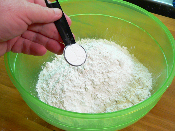 Coconut Cake, add the baking powder.