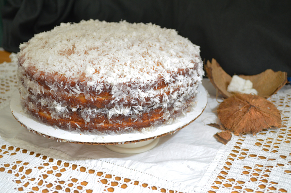 Mama's Fresh Coconut Cake recipe, made from scratch, as seen on Taste of Southern.