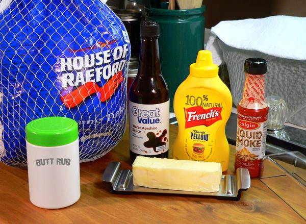 Turkey BBQ, ingredients.