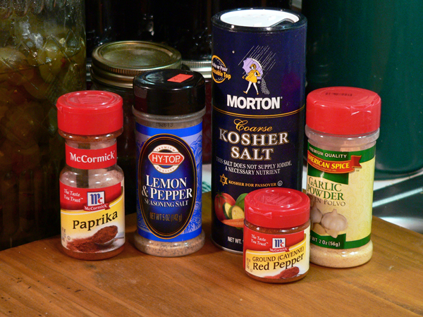 Turkey BBQ, rub ingredients.