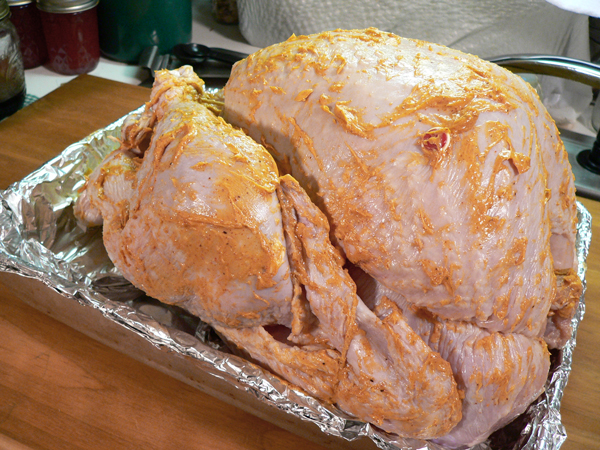 Turkey BBQ, ready to roast.