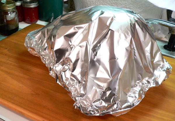 Turkey BBQ, wrap securely.