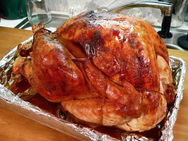 Turkey BBQ, the roasted turkey.