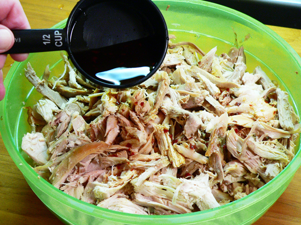 Turkey BBQ, pulled turkey.