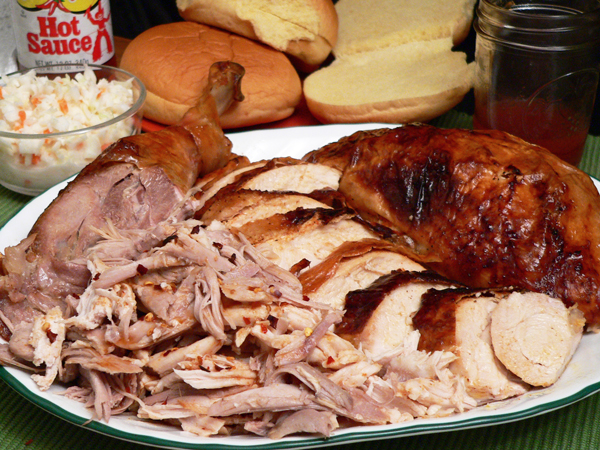 Eastern North Carolina Turkey Barbecue recipe, as seen on Taste of Southern.