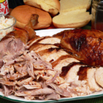 Eastern North Carolina Turkey BBQ recipe, as seen on Taste of Southern. Printable recipe.