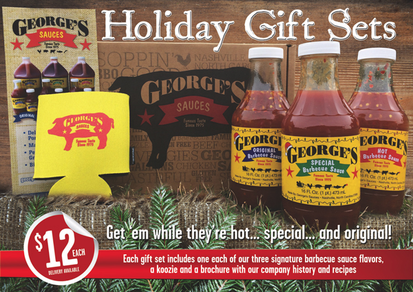 Win this George's Barbecue Sauce giftpack, just in time for Christmas.