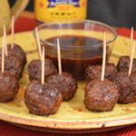 George's Barbecue Sauce Meatball appetizers recipe, as seen on Taste of Southern.