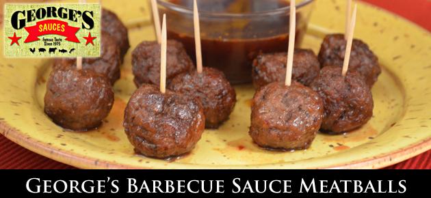 George's BBQ Sauce Meatballs, slider.