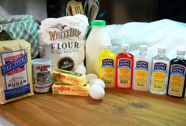 Southern Flavoring Pound Cake, ingredients.