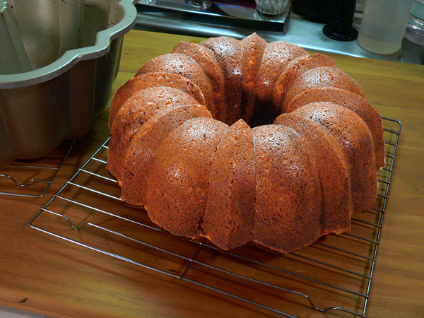 Southern Flavoring Pound Cake. remove from pan.