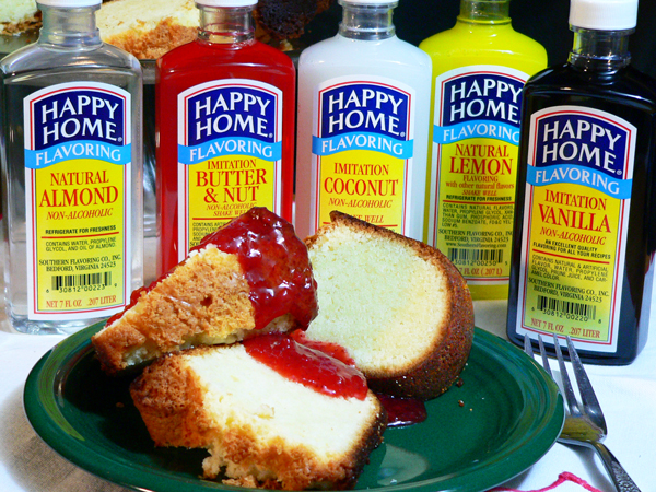 Southern Flavors Pound Cake recipe, as seen on Taste of Southern.