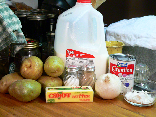 Potato Soup, you'll need these ingredients.