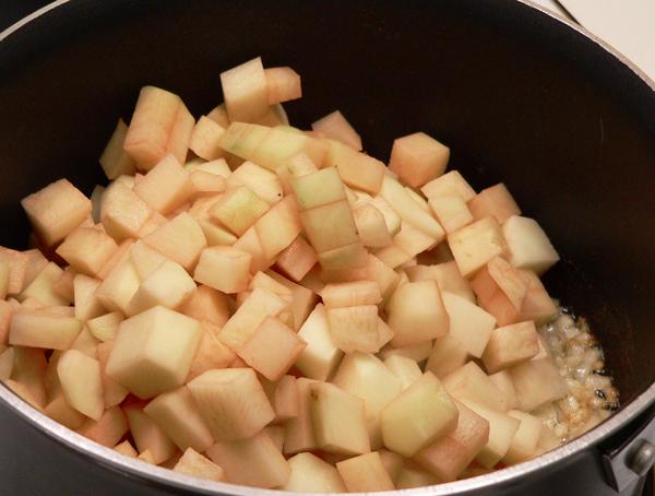 Potato Soup, add the potatoes.
