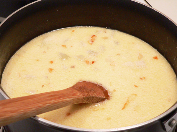 Potato Soup, stir well.