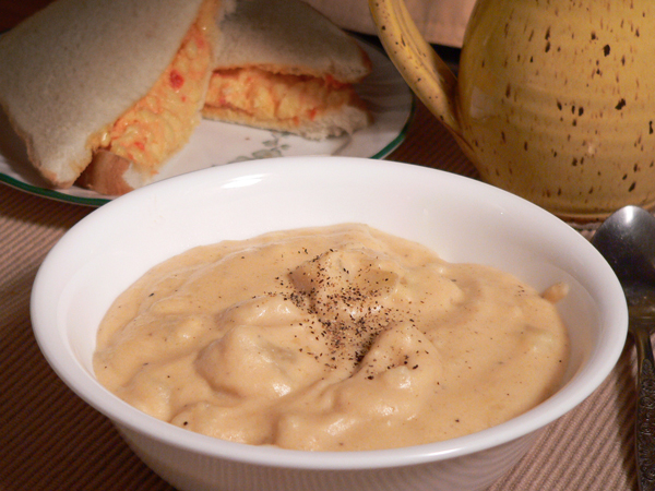 Potato Soup, serve warm and enjoy.