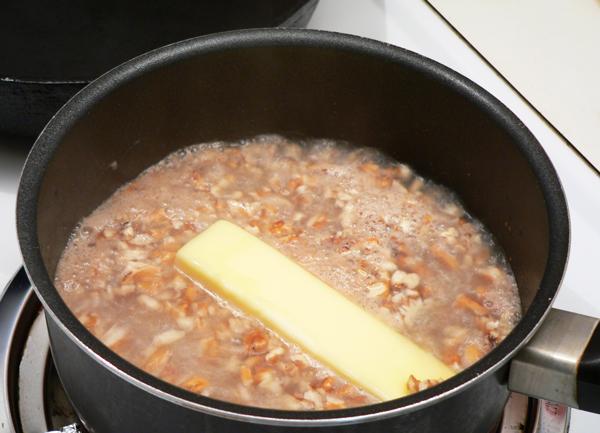 Canadian War Cake recipe, add the stick of butter.
