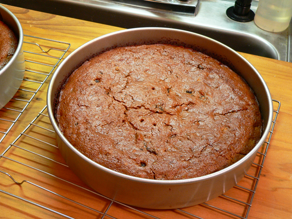 Canadian War Cake Recipe, remove layers from oven, place on wire racks to cool.