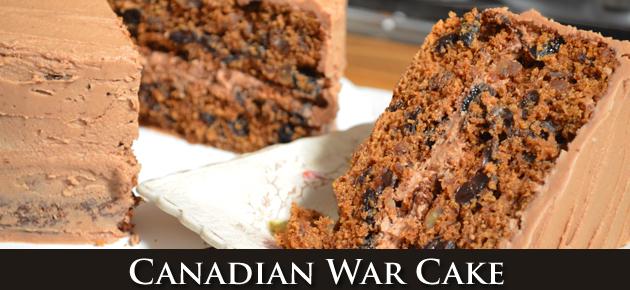 Canadian War Cake Recipe, slider.