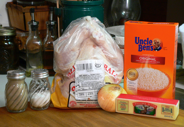 Chicken and Rice, you'll need these ingredients.