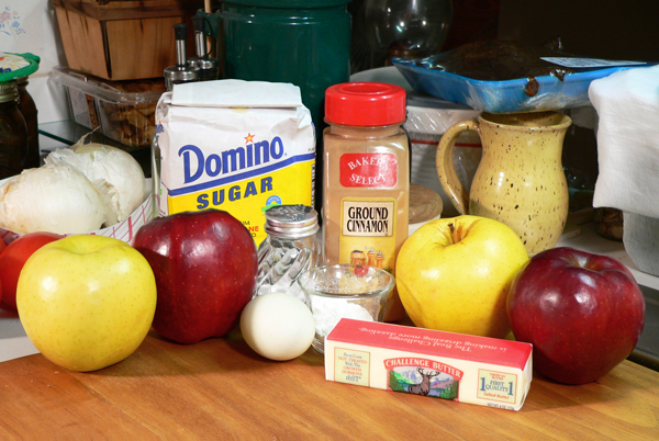 Grated Apple Pie, you'll need these ingredients.