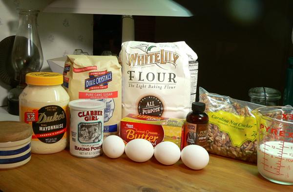 Butter Pecan Cake, ingredients.