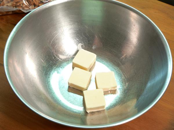 Butter Pecan Cake, add butter.