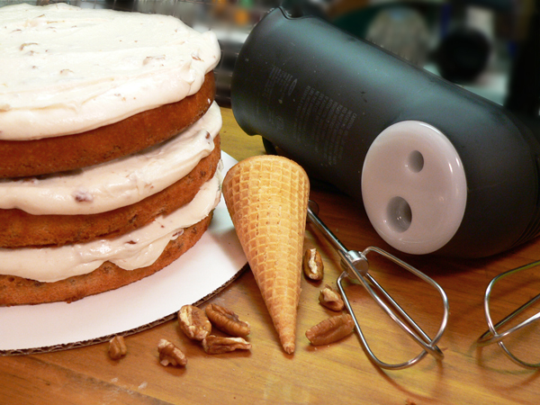 Butter Pecan Cake, frost and enjoy.