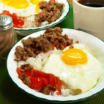 Sausage, Egg, Cheese - Rice Bowl recipe, as seen on Taste of Southern.