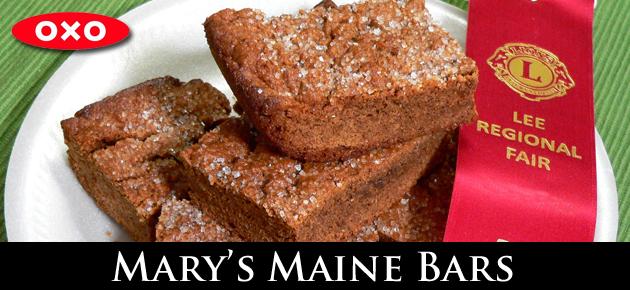 Award winning, Mary's Maine Bar cookies.