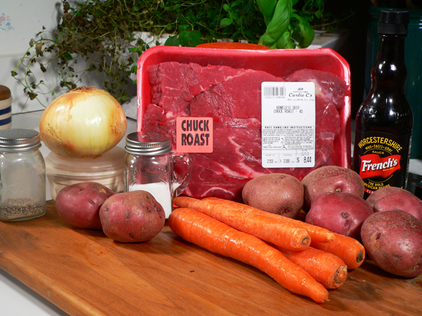 Pot Roast recipe, you'll need these ingredients.