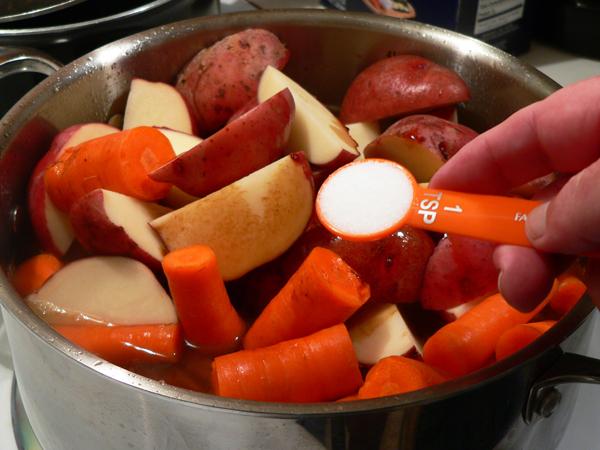 Pot Roast recipe, add the salt.