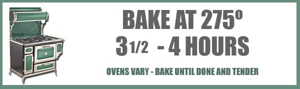 Pot Roast recipe, baking time and temp.