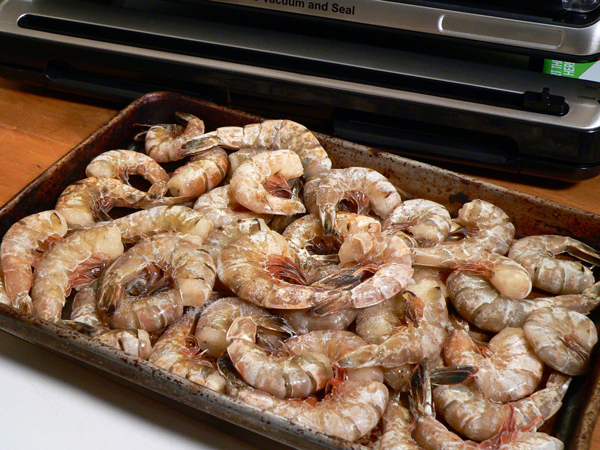 Shrimp Creole, frozen shrimp.