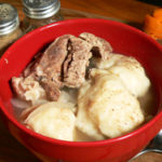 Pork Backbone and Dumplings recipe, as seen on Taste of Southern.
