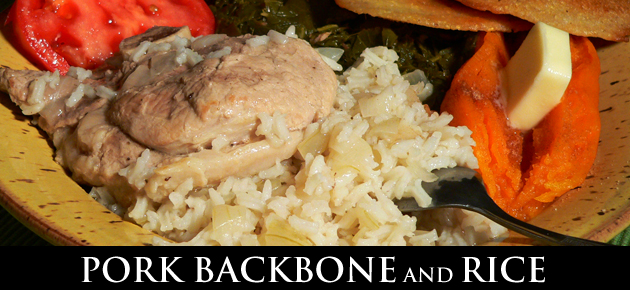 backbone and rice, slider