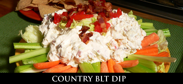 Country BLT Dip recipe, as seen on Taste of Southern.