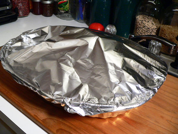 Ham Shank, cover the shank loosely with aluminum foil.